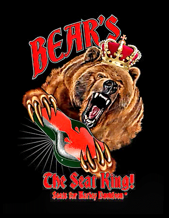 Custom and Antique Harley Seats – Bear's The Seat King